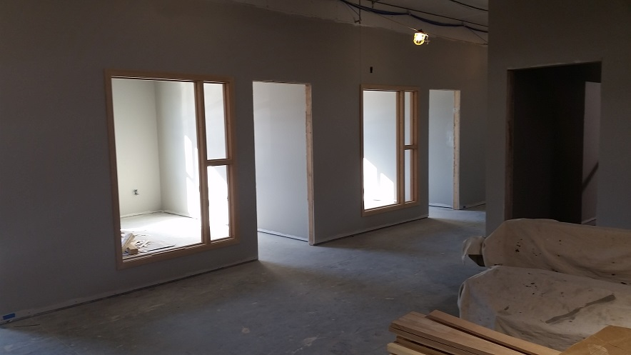 Front View of Unfinished Door Frames