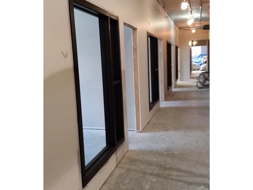 Side View of Unfinished Door Frames